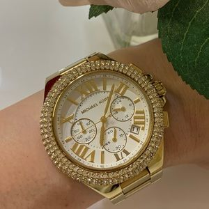 Michael Kors Gold Crystals Large Watch